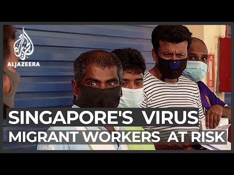 Singapore's migrant workers form most of its 20,000 virus cases