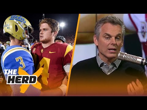 Colin Cowherd reacts to Josh Rosen and Sam Darnold declaring for the 2018 NFL Draft | THE HERD