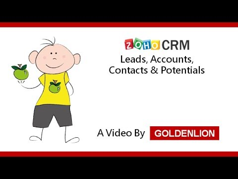Zoho CRM: Leads, Accounts, Contacts and Potentials