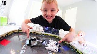 Father & Son PLAY HEXBUG BATTLEBOTS! / Best Robot Destruction Ever!