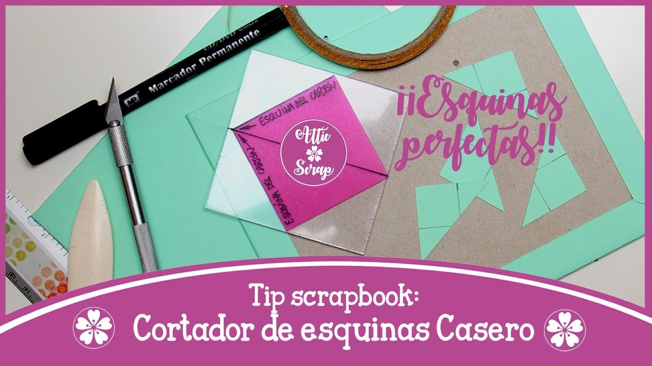 Tip Scrapbooking: CORTADOR DE ESQUINAS CASERO (Tapas con Esquinas ...