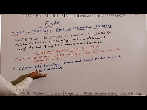 ECRM Or Electronic Customer Relationship Management With Examples | Business Studies | Mathur Sir