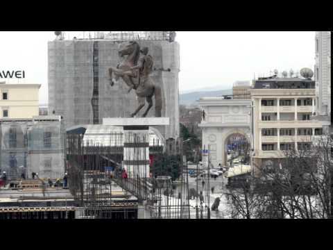 Skopje TimeLapse  5 sec  Construction Work