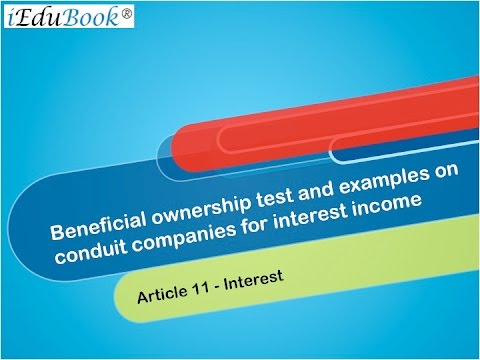 4 Beneficial ownership test and examples on conduit companies for interest income