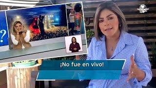 Carla Contreras señaló que la grabación nunca se transmitió en vivo y pidió disculpas por la confusión generada