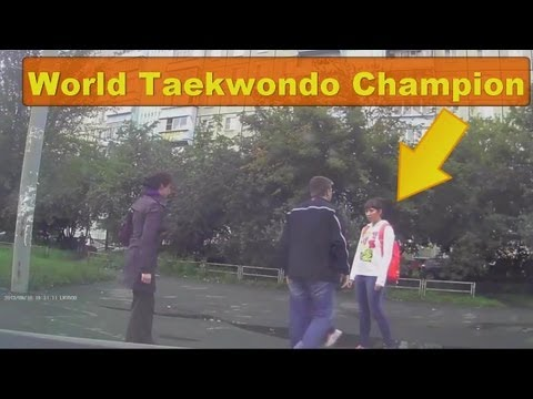 Woman Beater Spanked By Female World Taekwondo Champion