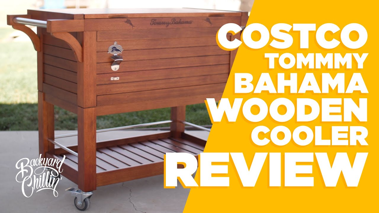 Backyard Ideas Reviewing Tommy Bahama Ice Cooler From Costco Youtube