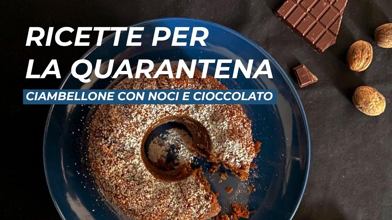 Ricette Dolci Quarantena.Ricette Per La Quarantena Ciambellone Con Noci E Cioccolato Youtube