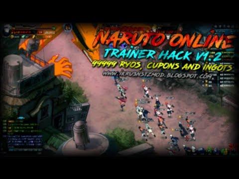 Naruto Online - Trainer Hack v1.2 (S1-S92) (99999 Ryos, Cupons e Lingotes)