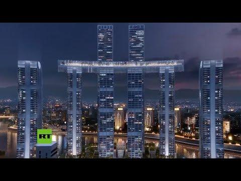 横躺空中···重庆这栋摩天楼吓到一堆外国人