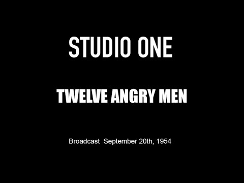 LIVE TV RESTORATION: Twelve Angry Men  Studio One Original 1954 Broadcast