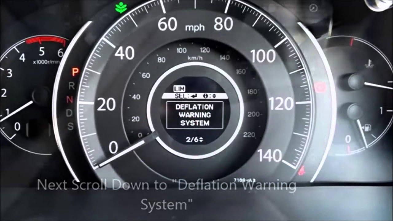 Lights On The Dashboard Of A Honda Cr V Tpms