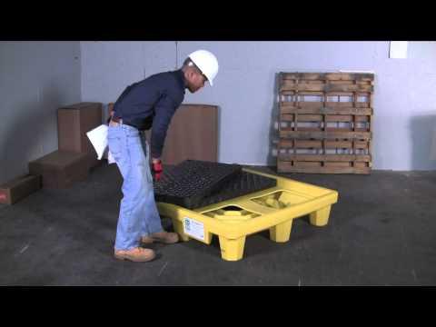Spill Containment for 4 Drums - Ultra-SpillPallet P4 - UltraTech International, Inc. 904-288-8195