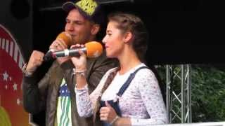 Sarah Engels & Pietro Lombardi - Hanging On. 29.06.2014 live in Bielefeld, Deutschland.