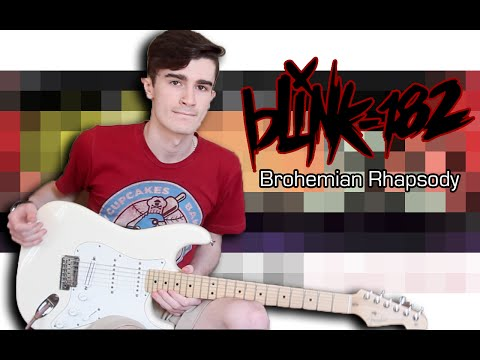 Blink 182 - Brohemian Rhapsody (Guitar & Bass Cover w/ Tabs)