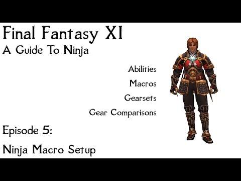 FFXI A Guide To Ninja: Episode 5 Macro's, Gearswap, LUA's