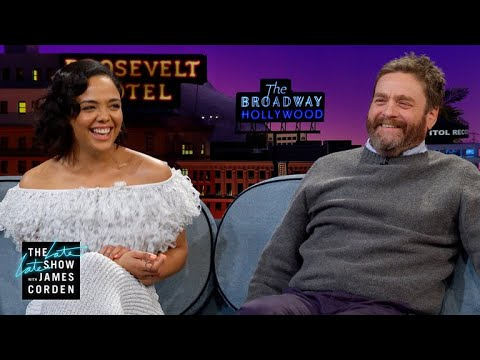 Tessa Thompson & Zach Galifianakis Fudged Their Headshots