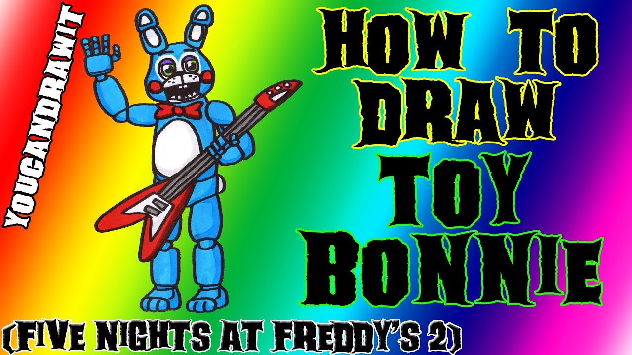 how to draw bonnie toy from five nights at freddy s 2