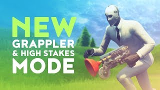 DAKOTAZ REACTING TO THE NEW GRAPPLER AND HIGH STAKES MODE! - (Fortnite Battle Royale - Dakotaz)