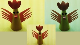 How to Make Chicken with Color Paper|DIY Paper Rooster Making|Mr.Paper crafts