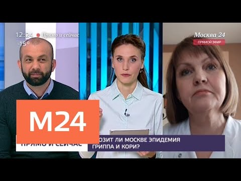 """""""Прямо и сейчас"""": грозит ли москвичам эпидемия гриппа - Москва 24"""