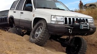Jeep Grand Cherokee 4x4 Project ZJ RHD Full Width XJ 5.9 Limited ZJ Prairie City Long Arm Flexing(1996 Jeep Grand Cherokee Laredo 4x4 with 5.2 V8 and automatic transmission. Full info below... Suspension Info: Rear is on RE 3.5