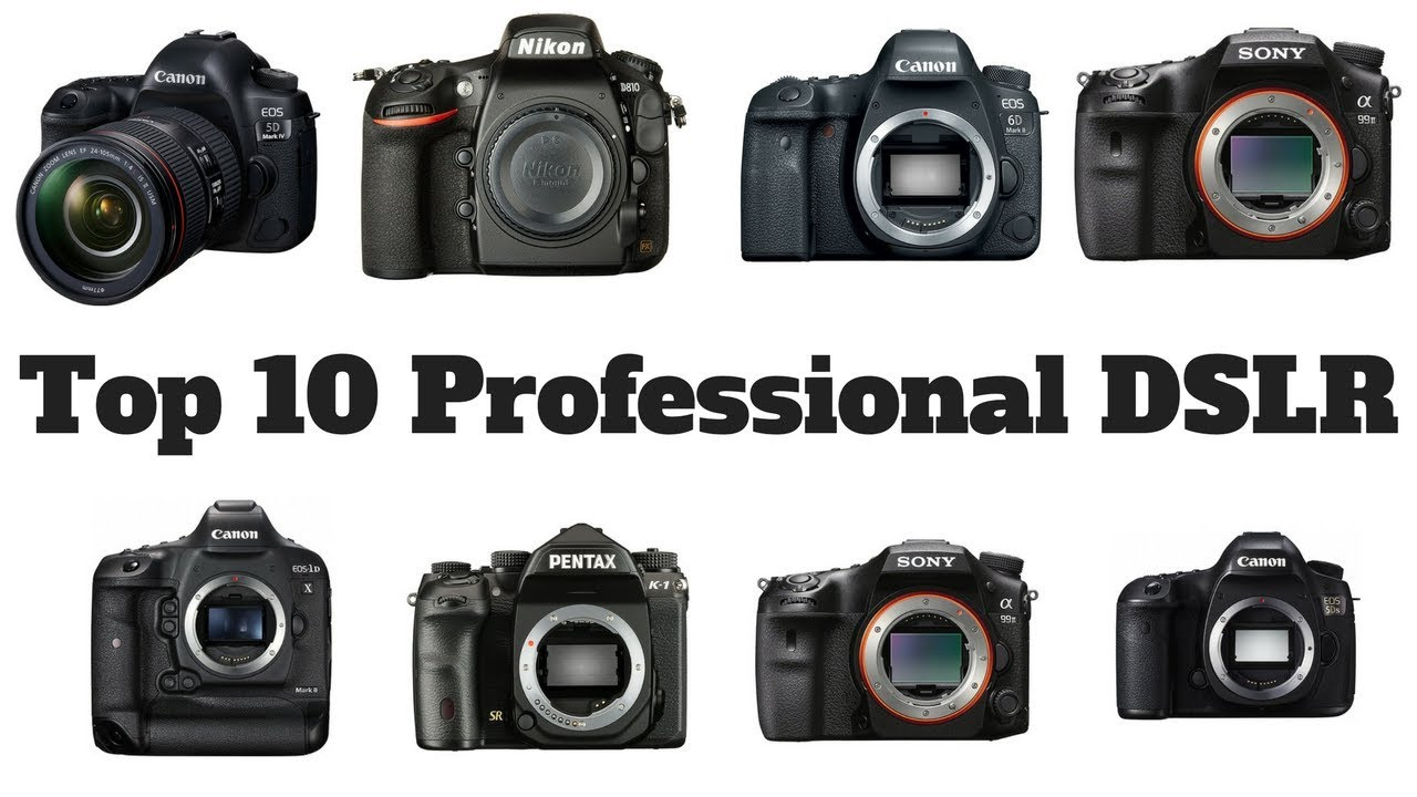 Top 10 Professional DSLR Cameras 4K Video Full Frame On Amazon - YouTube
