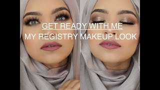 get ready with me my registry makeup tutorial smokey eyes using anastasia mario palette