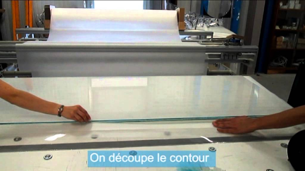 Fabrication verre feuillet youtube for Plaque de verre pour table