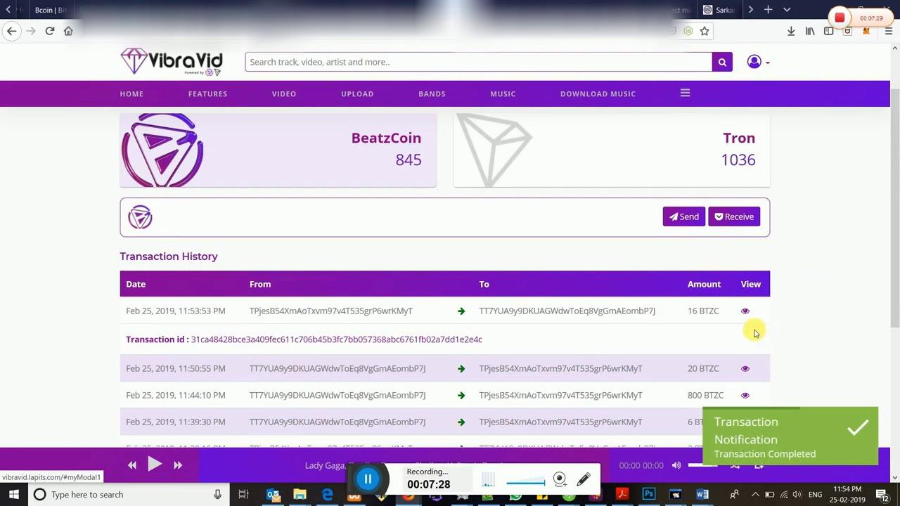 cryptocurrency music platform