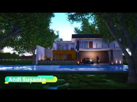 desain rumah 2 lantai 15x20 meter - youtube