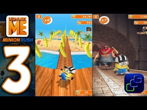 Despicable Me: Minion Rush Android Walkthrough - Part 3 - NEW Minion Beach and El Macho's Lair