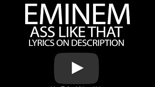 Eminem Ass Like That (Official Lyric Video) | LYRICS ON DESCRIPTION |