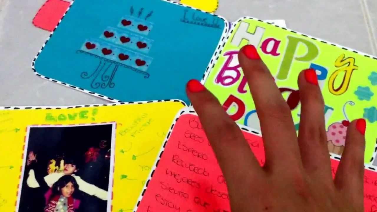 Como decorar una tarjeta de cumplea os sencilla regalo for Cuartos decorados feliz cumpleanos