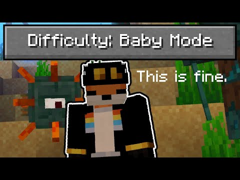 """So I added a """"baby mode"""" difficulty to Minecraft..."""