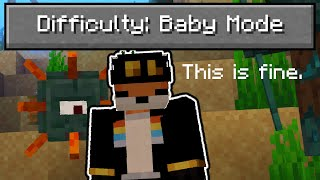 "So I added a ""baby mode"" difficulty to Minecraft..."