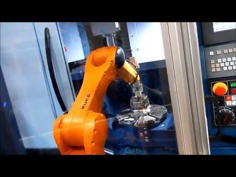 Automation Eclair - PartNR-SL - KUKA Agilus KR10 + Matsuura MX-520