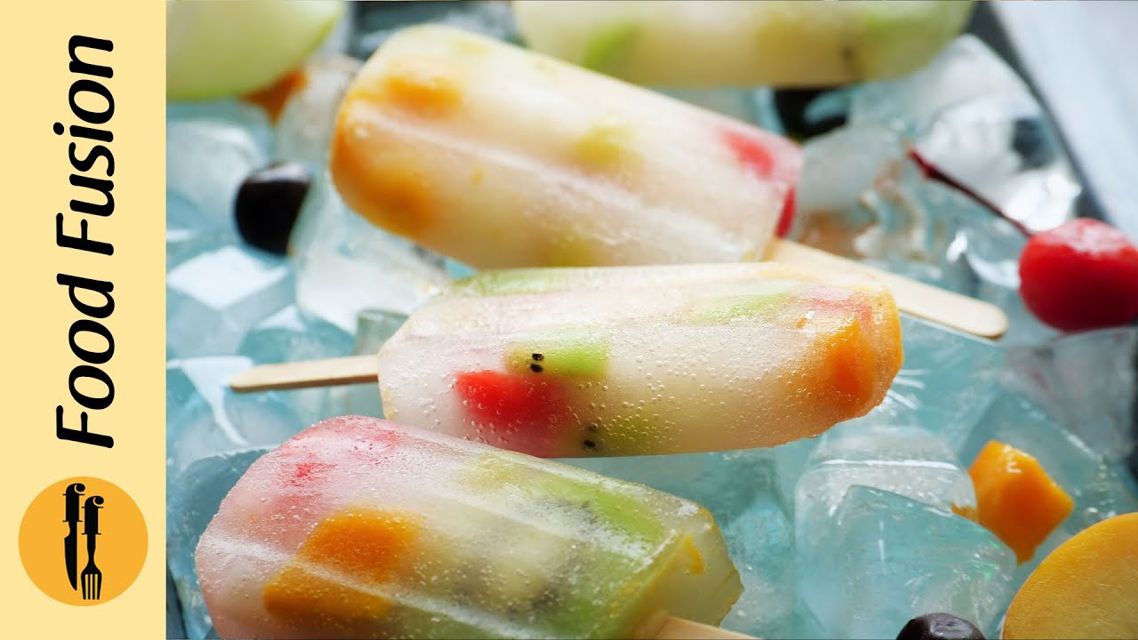 Fruit popsicles with 7up Recipe By Food Fusion