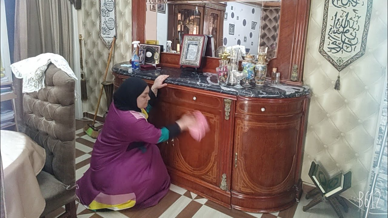 ولله لسه بدرى يا رمضان روتين تنظيفات العيد