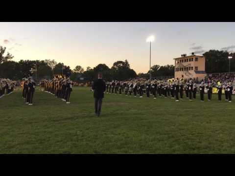 Cuyahoga Falls marching band plays the fight song