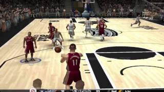 NBA Live 08 PC Gameplay (cleveland cavaliers vs san antonio spurs)