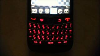 custom mod blackberry bold 9780 stealth housing with red backlit keyboard