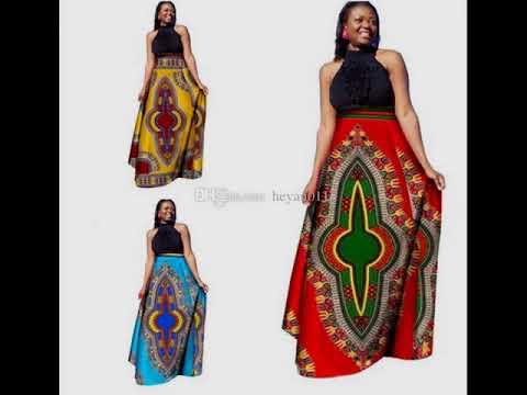 #2018 Classic Trends: Glamorous & Elegant African Print Dresses for Lovelies