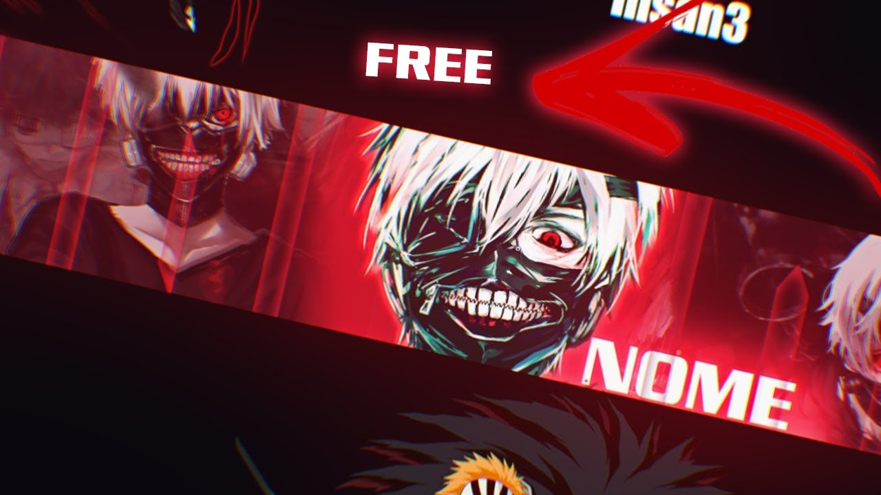 Kaneki Anime Banner Template Tokyo Ghoul Free Youtube