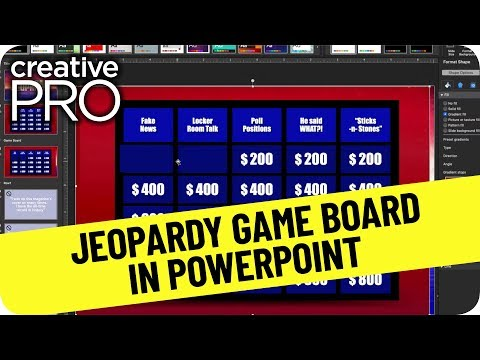 Jeopardy Game Board In Powerpoint Ft. Steve Wishman // Three Minutes Max