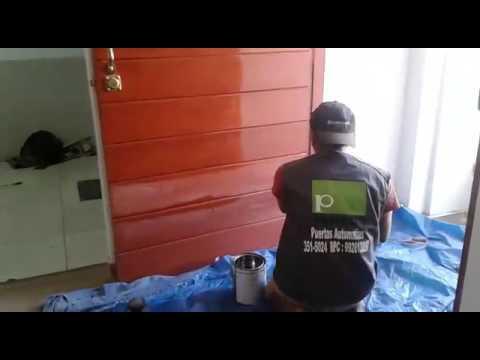 Como barnizar una puerta de madera pameco youtube - Como barnizar una puerta de madera ...