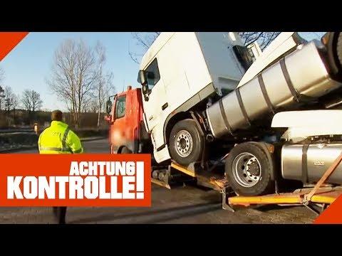 Weiterfahrt verboten! Katastrophaler LKW wird aus dem Verkehr gezogen! | Achtung Kontrolle