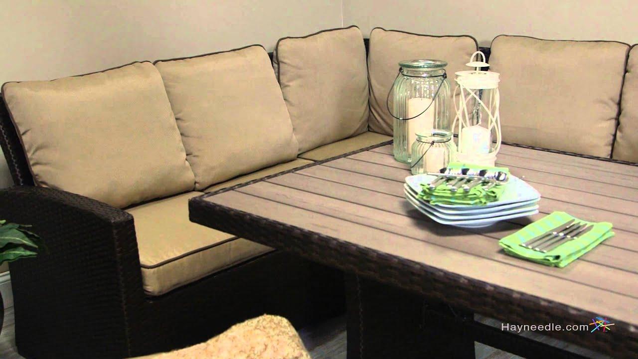 Belham Living Monticello AllWeather Wicker Sofa Sectional