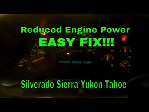 Reduced Engine Power FIX! Chevy Silverado GMC Sierra Tahoe Yukon