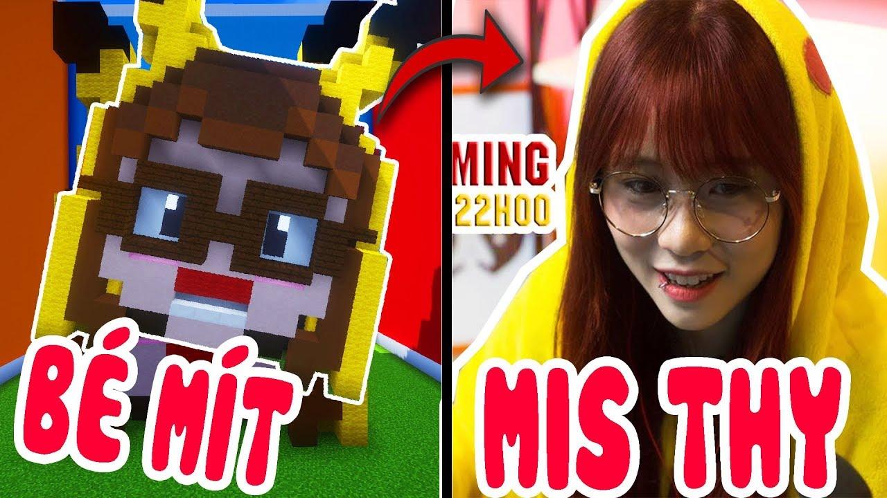 Thử Thách Xây Ai Giống MIS THY Nhất Trong Minecraft